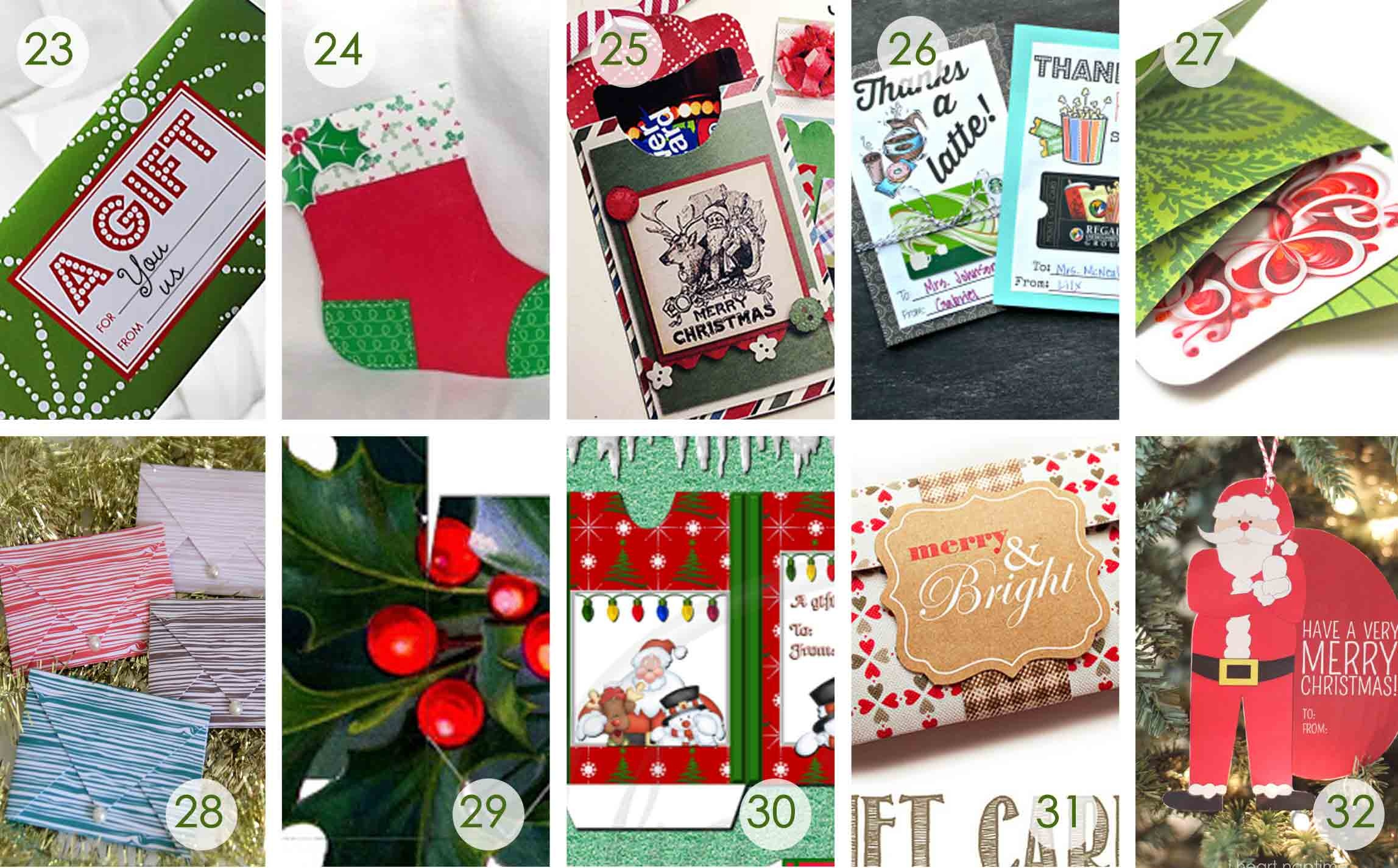 Over 50 Printable Gift Card Holders For The Holidays   Gcg - Make A Holiday Card For Free Printable