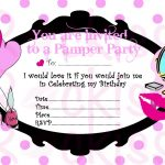 Pamper Party Invite Template   Tutlin.psstech.co   Free Printable Spa Party Invitations Templates