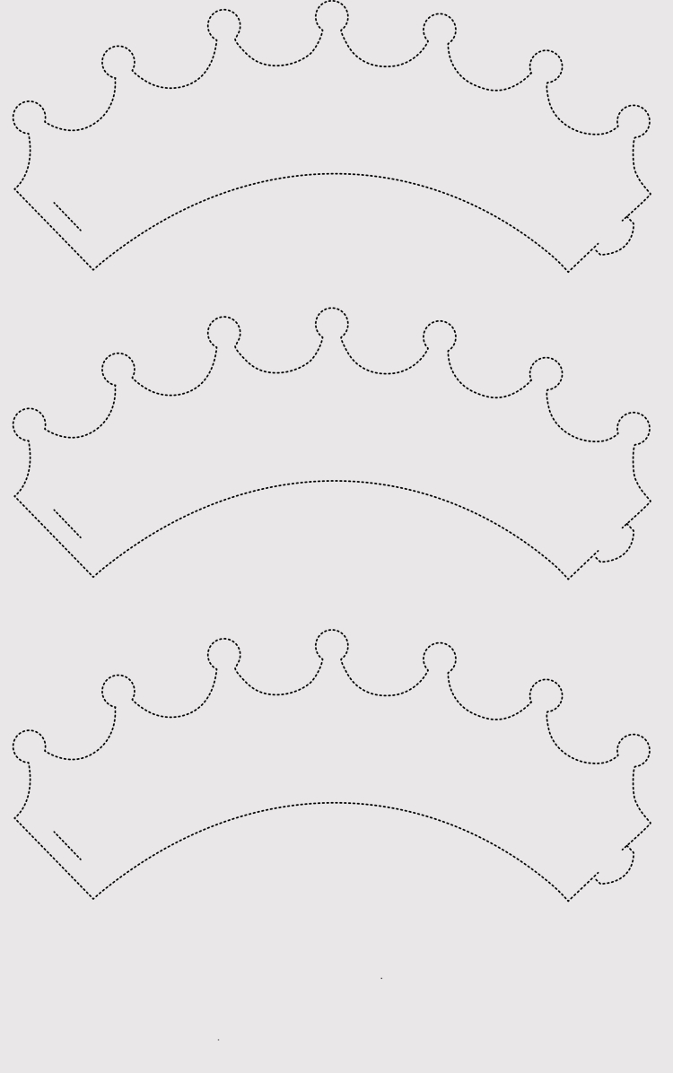 Paper Crown Templates For Prince, Princes (Print & Cut At Home) - Free Printable Crown
