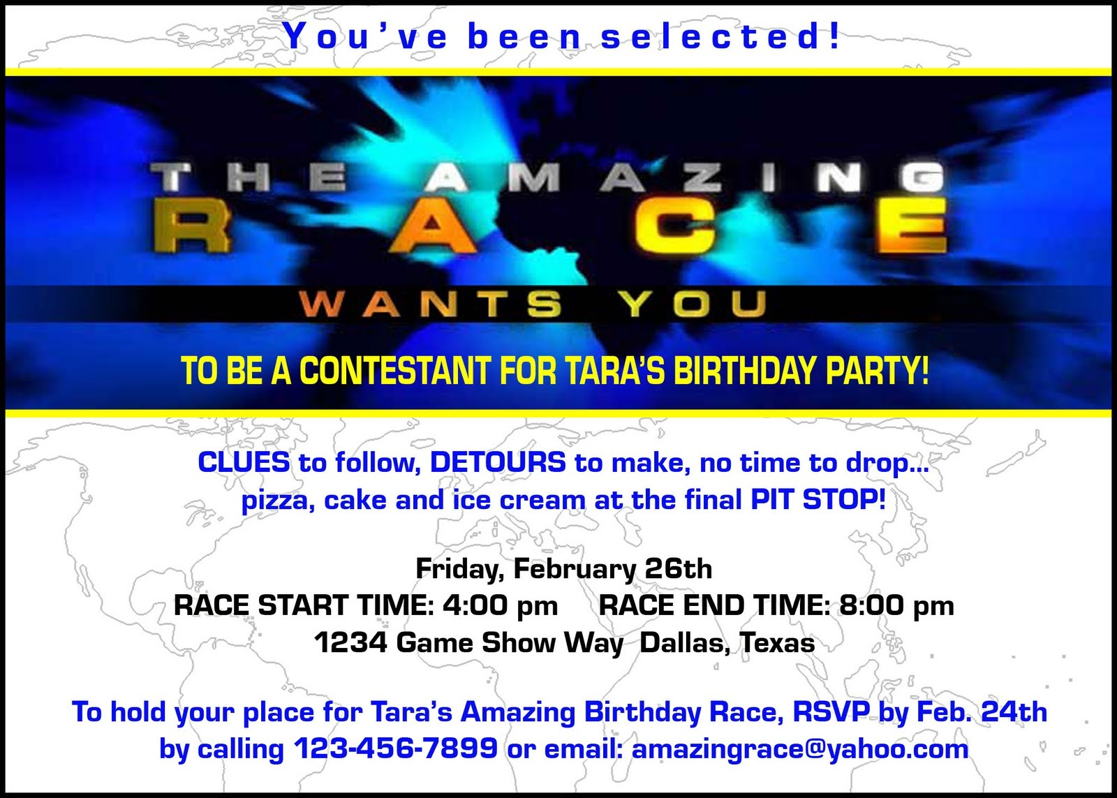 "Paper Perfection: Free ""amazing Race"" Birthday Party Invitation - Blue's Clues Invitations Free Printable"