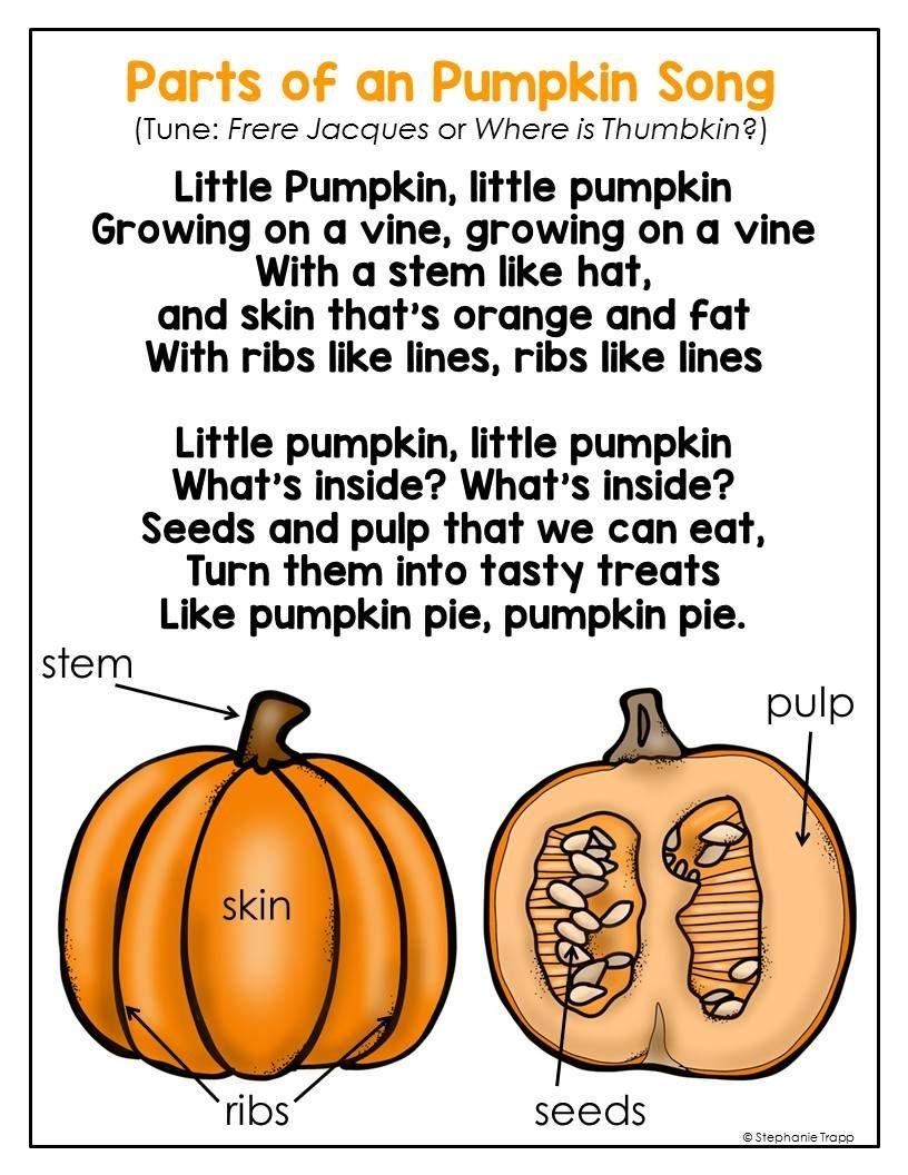 Parts Of A Pumpkin Free Printable   Pumpkin Activities For Kids - Free Printable Pumpkin Books