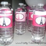 Party Tales: July 2012   Free Printable Paris Water Bottle Labels