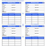 Patient Medication Card Template | Emergency Kits | Medication List   Free Printable Id Cards Templates