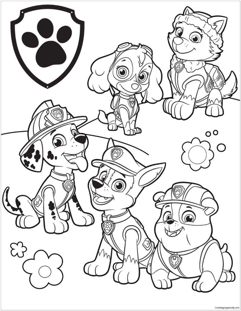 Free Printable Paw Patrol Coloring Pages | Free Printable