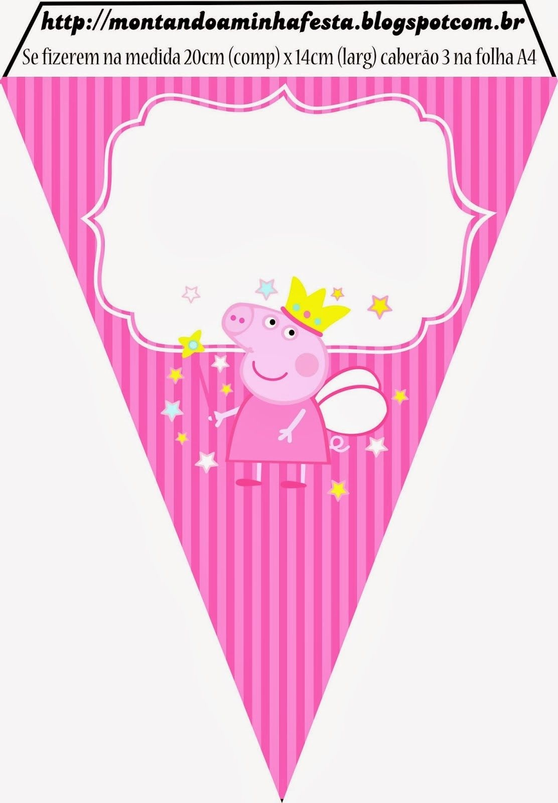 Peppa Pig Fairy Party Banners And Printables. Cones, Cupcake - Peppa Pig Birthday Banner Printable Free