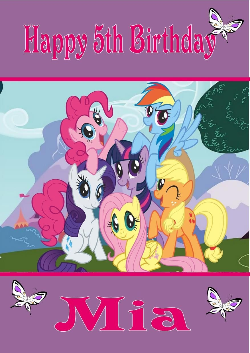 Personalised My Little Pony Birthday Card - Free Printable My Little Pony Thank You Cards