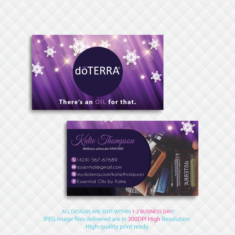 Personalized Doterra Business Card, Doterradigitalart On Zibbet - Free Printable Doterra Sample Cards