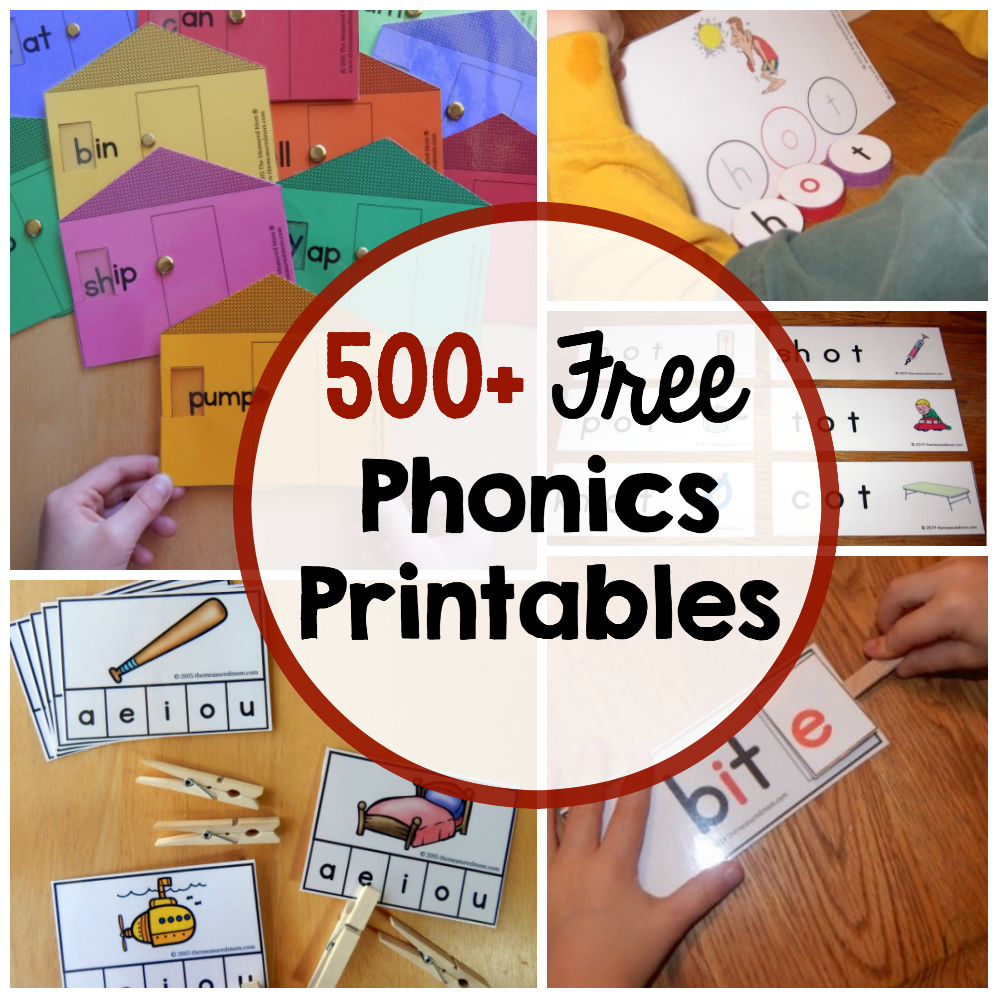 Phonics Activities - The Measured Mom - Free Printable Word Family Games