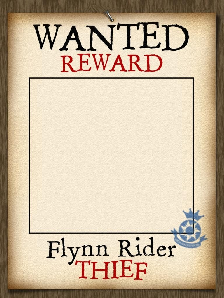Photo Frame - Add Your Own Name - Wanted Poster - Tangled - Wanted Poster Printable Free
