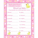 Photo : Personalized Word Scramble Baby Image   Free Printable Baby Shower Games In Spanish