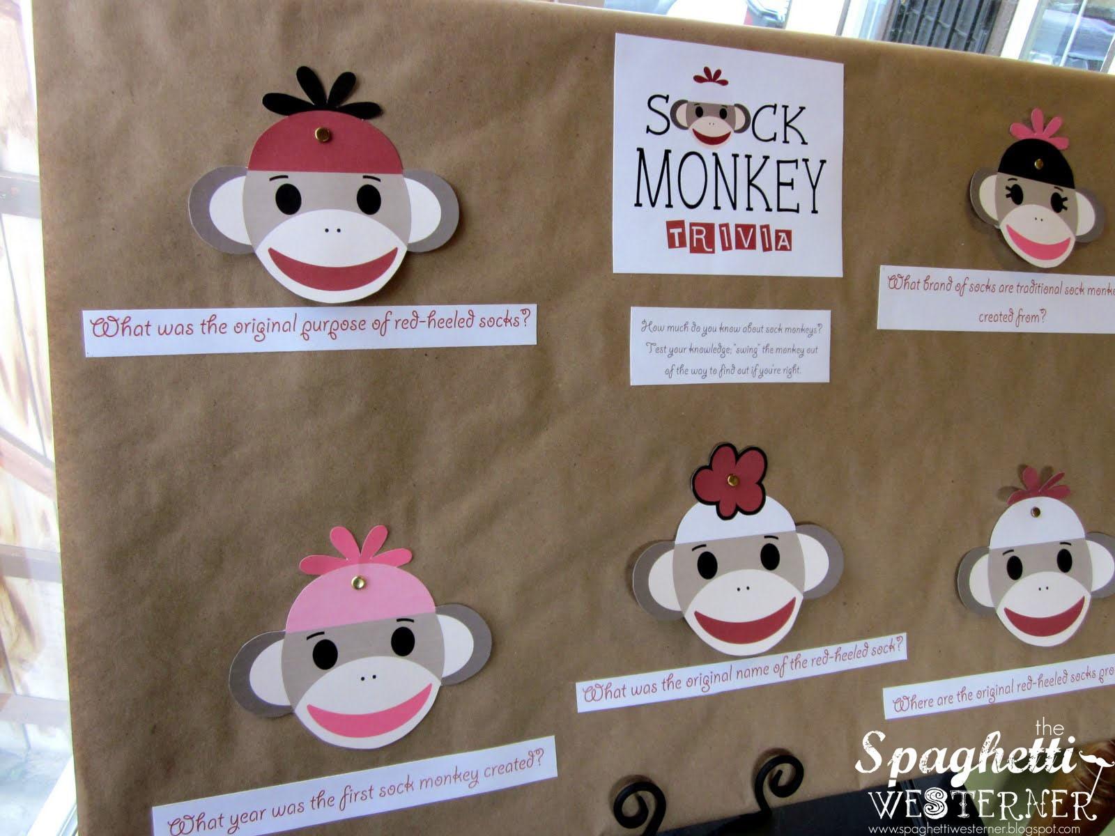 Photo : Sock Monkey Baby Shower Image - Free Printable Sock Monkey Pictures