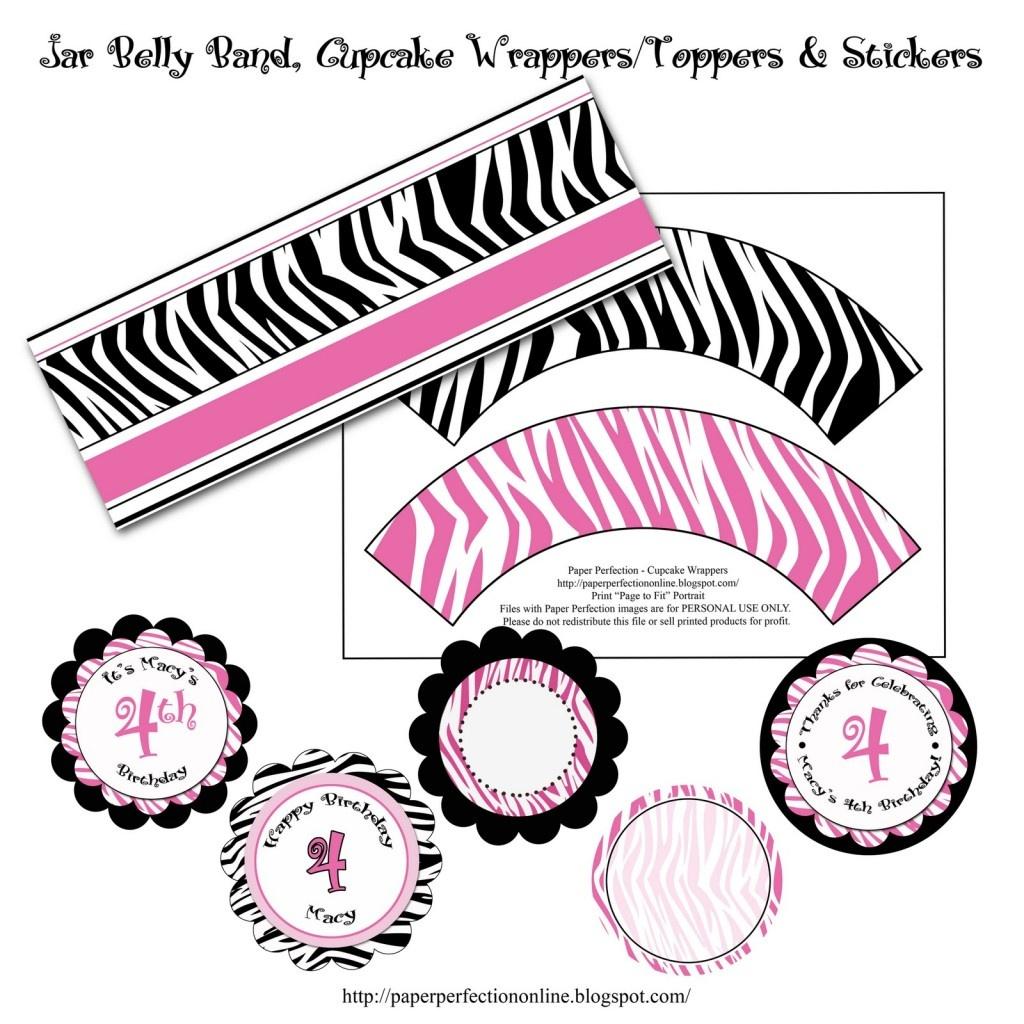 Photo : Zebra Princess Baby Shower Invitations Image - Free Printable Zebra Baby Shower Invitations