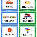 Picture Labels For Toys | Free Printable: Boy's Toy Bin Labels   Free Printable Classroom Labels With Pictures