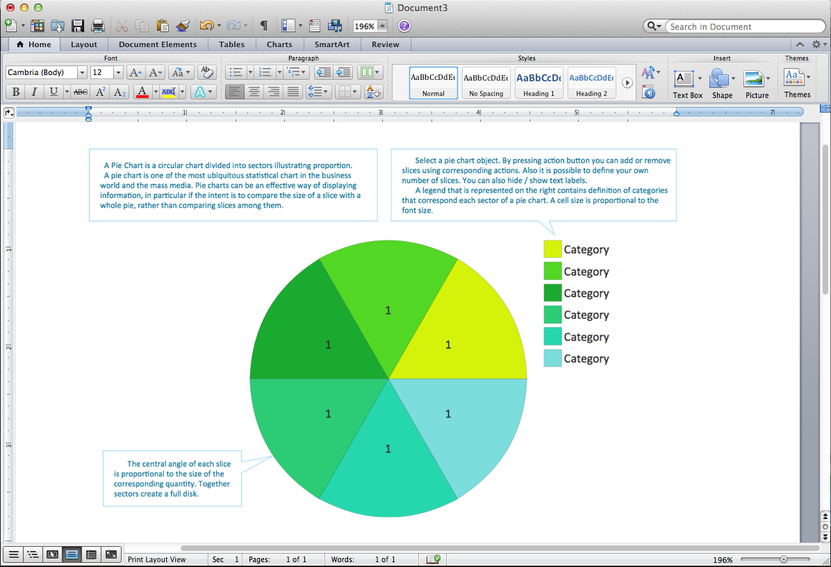 Pie Chart Word Template. Pie Chart Examples - Free Printable Pie Chart