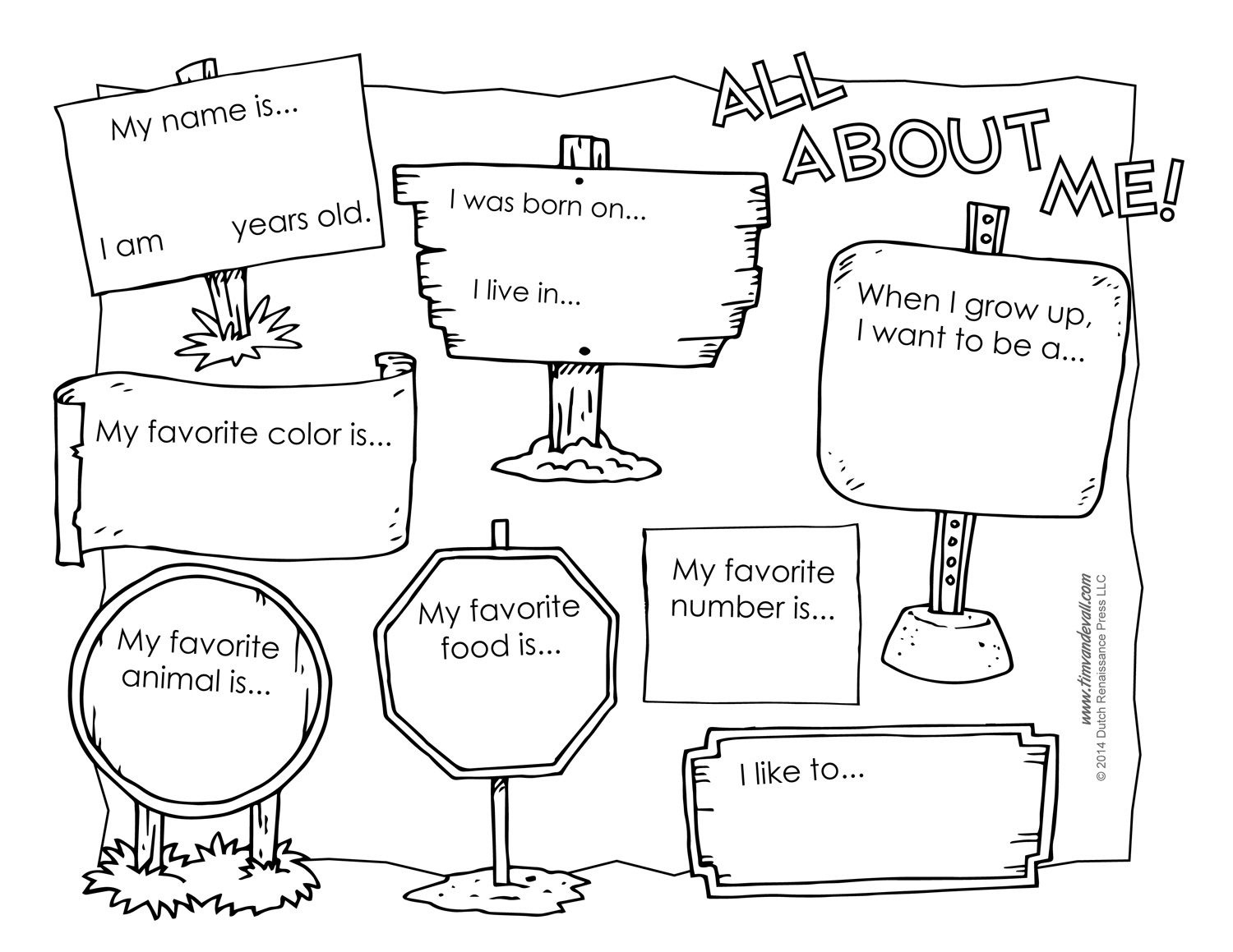 Pinaaron Addis On Classroom | All About Me Worksheet, All About - All About Me Free Printable