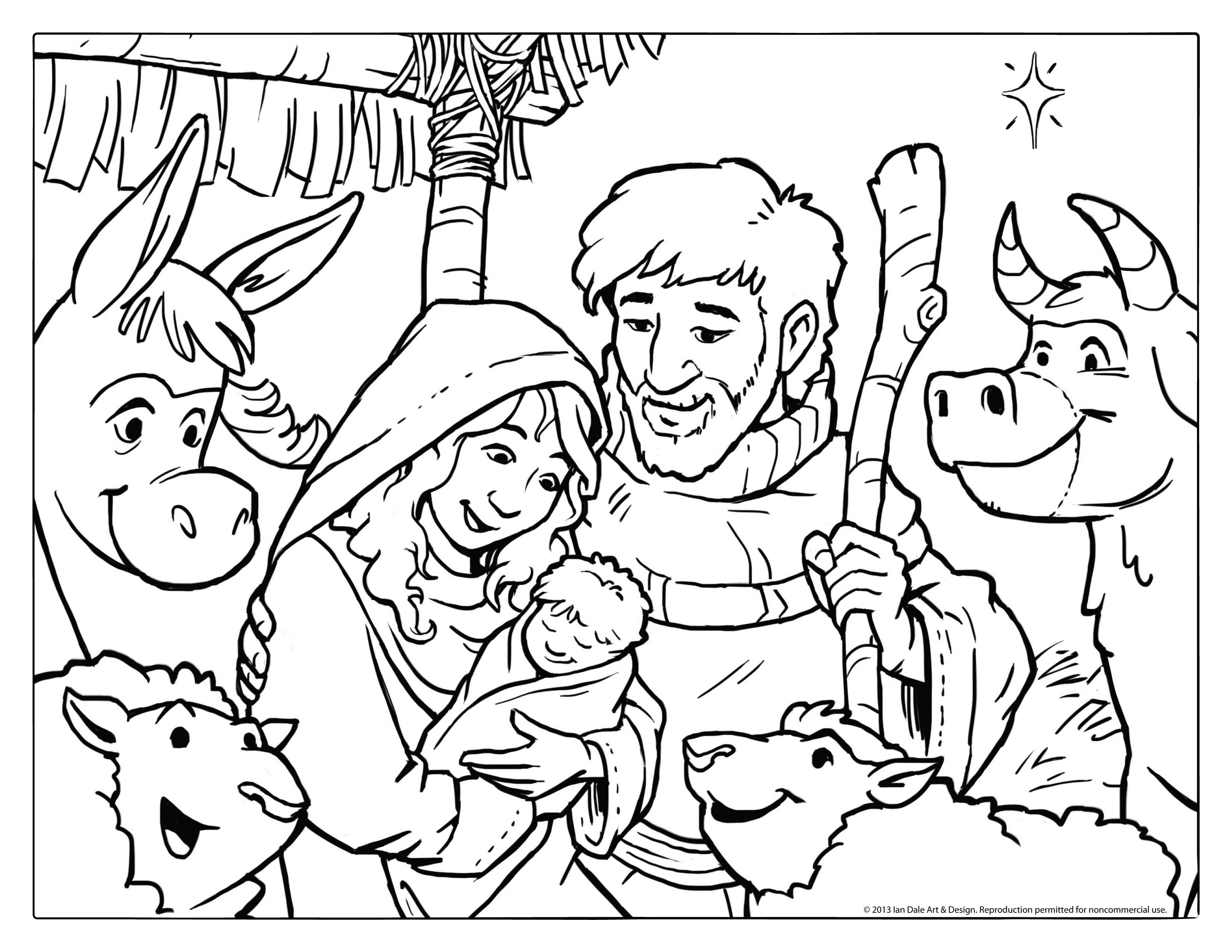 Pinalbertus Bayu Dwiananta On Coloring | Nativity Coloring Pages - Free Printable Pictures Of Nativity Scenes