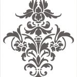 Pinanuja Pareek On Prints | Damask Stencil, Stencil Designs   Damask Stencil Printable Free