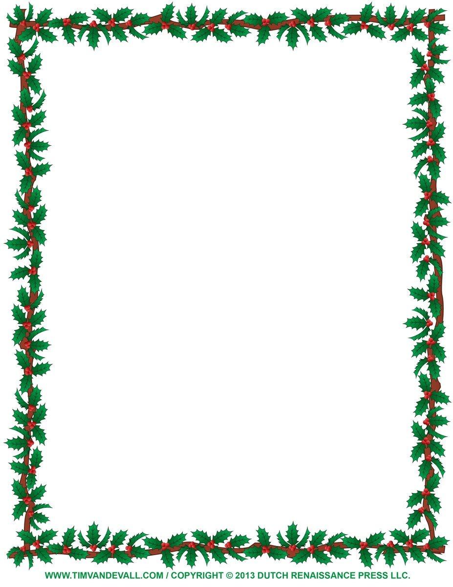 Pinbarb Polenski On Stationery | Christmas Border, Free - Free Printable Page Borders Christmas