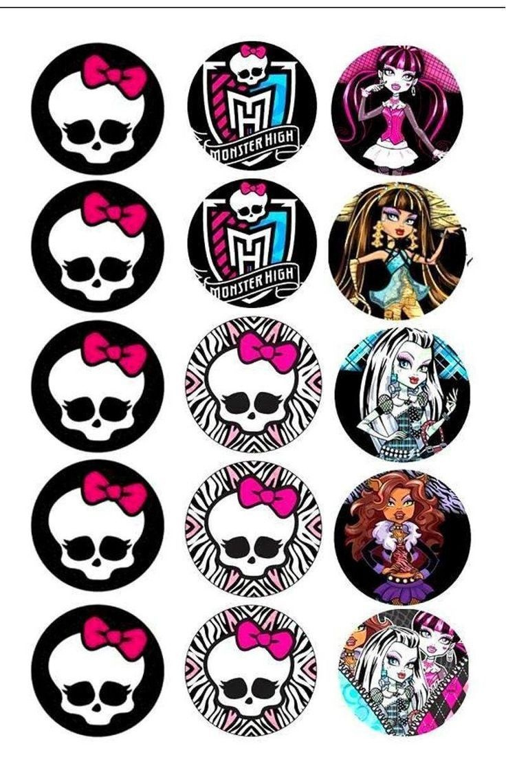 Pinchloe Steele On Monster High | Monster High Birthday, Monster - Free Printable Monster High Stickers