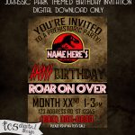 Pinchristie Rogers On Birthday Invites | Personalized Birthday   Free Printable Jurassic Park Invitations