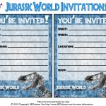 Pincrafty Annabelle On Dinosaurs Printables In 2019 | Birthday   Free Printable Jurassic Park Invitations