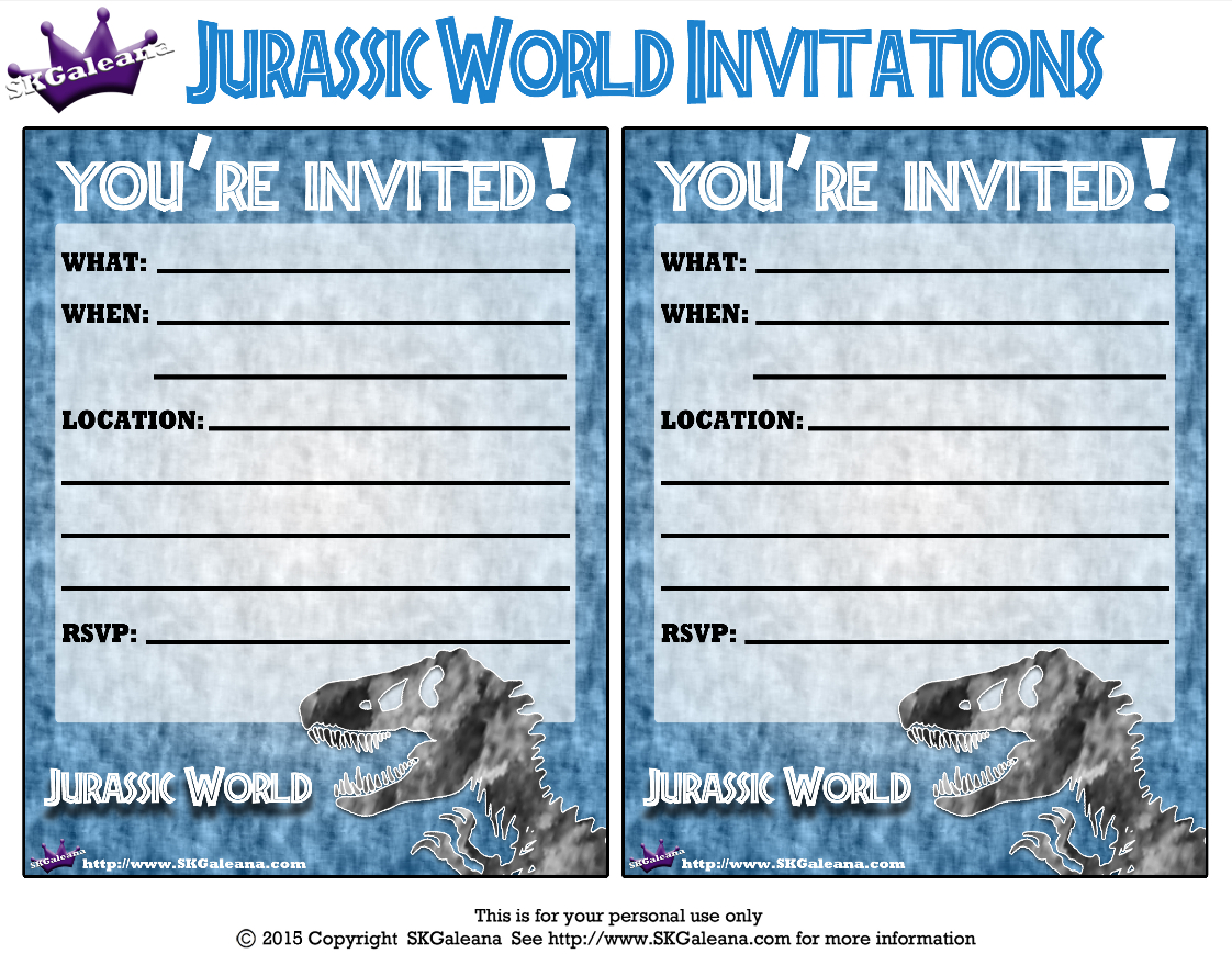 Pincrafty Annabelle On Dinosaurs Printables In 2019 | Birthday - Free Printable Jurassic Park Invitations