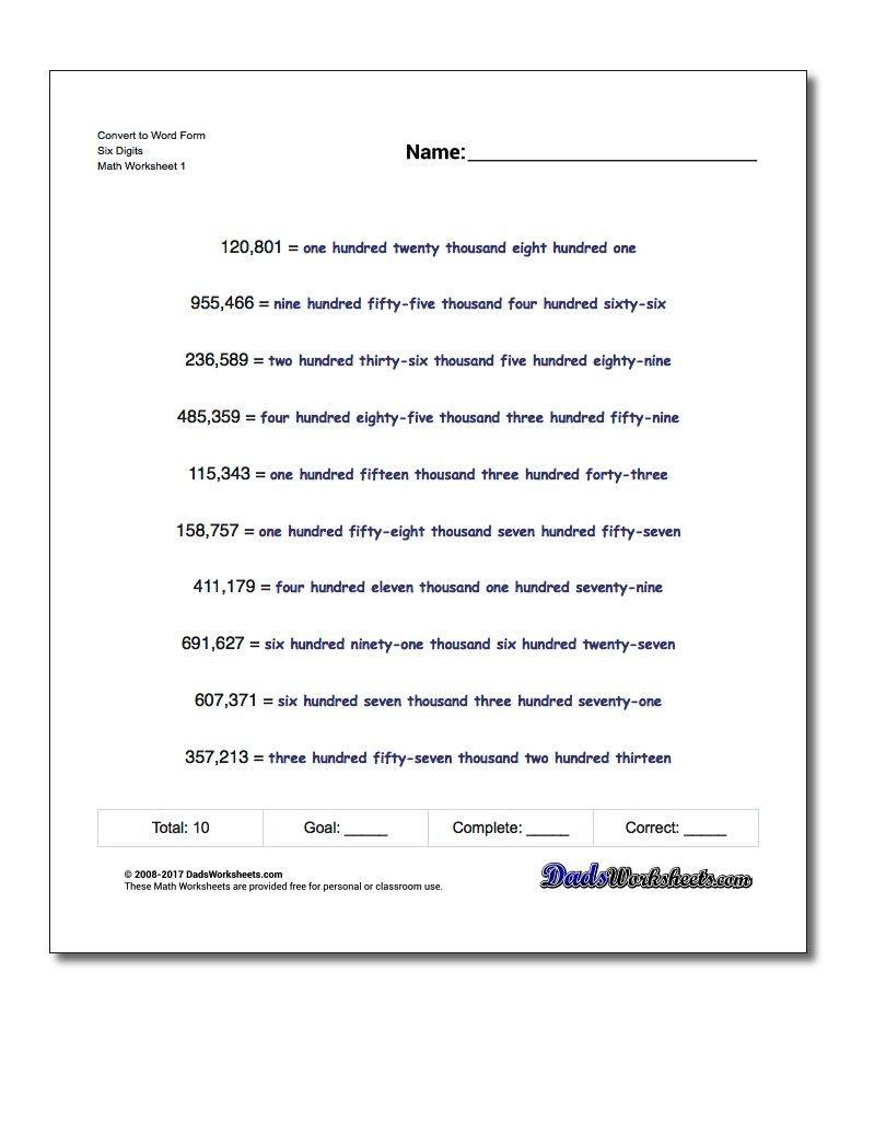 Pindadsworksheets On Math Worksheets   Printable Math - Free Printable Expanded Notation Worksheets