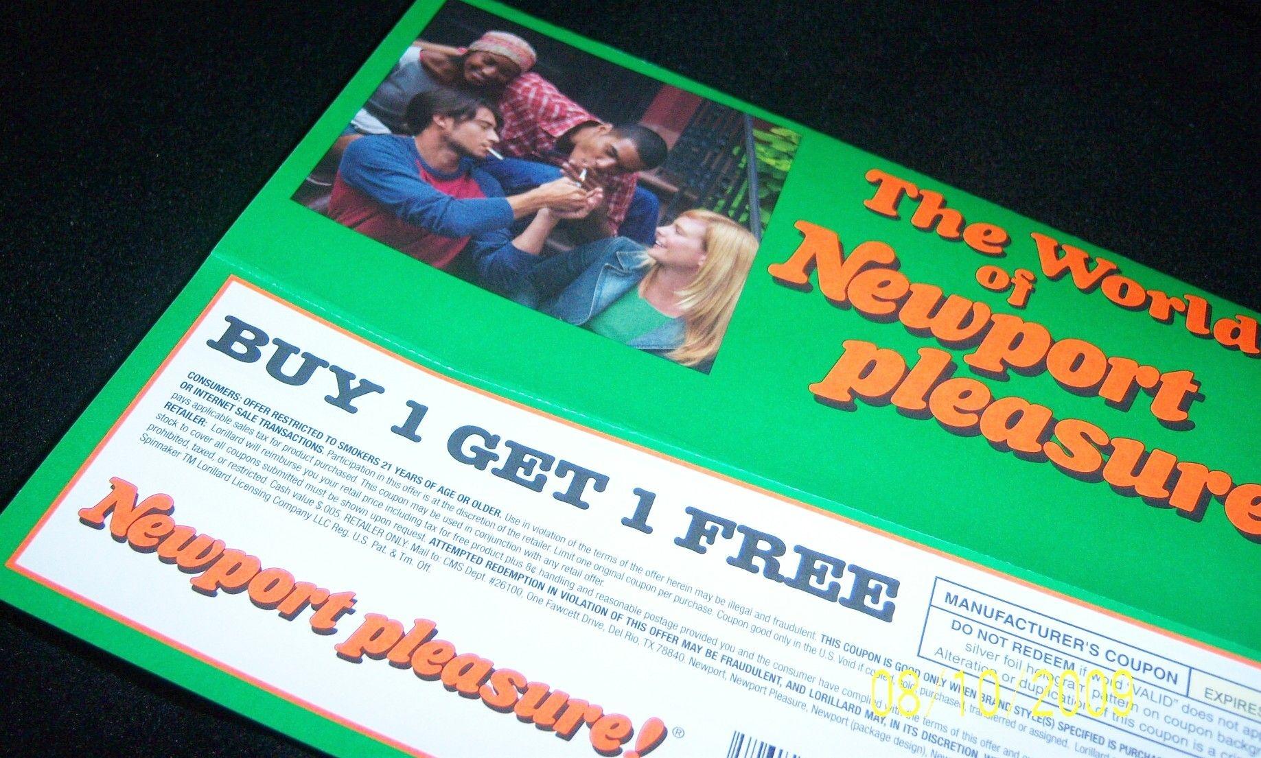 Pindebi On Coupons   Newport Cigarettes, Cigarette Coupons Free - Free Printable Newport Cigarette Coupons
