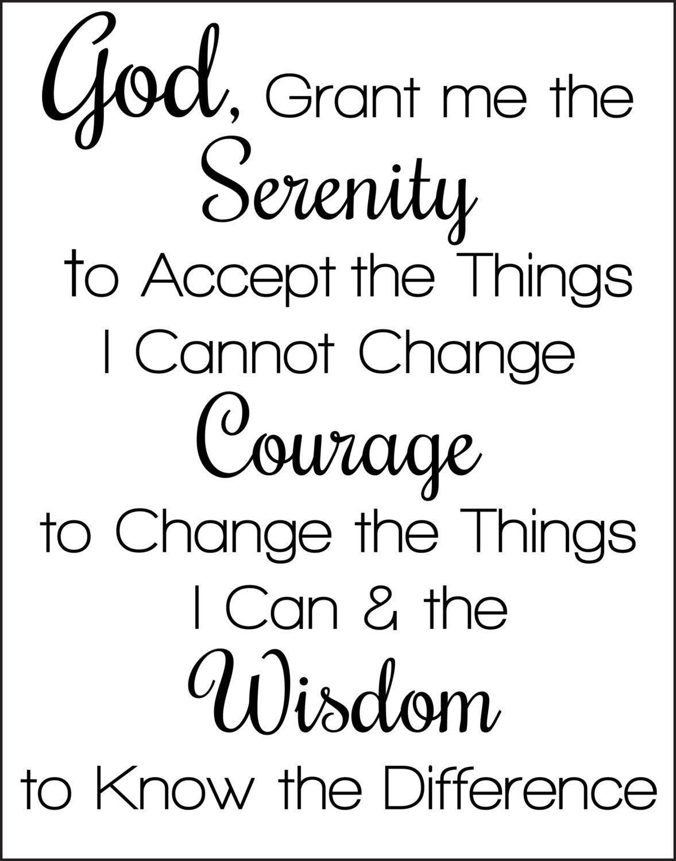 Pindebra Romine On Well Said   Serenity Prayer, Full Serenity - Free Printable Serenity Prayer