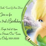 Pindrevio On Free Printable Birthday Invitation In 2019   Free Tinkerbell Printable Birthday Invitations