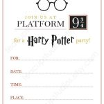 Pindrevio On Free Printable Birthday Invitation In 2019 | Harry   Harry Potter Birthday Invitations Free Printable