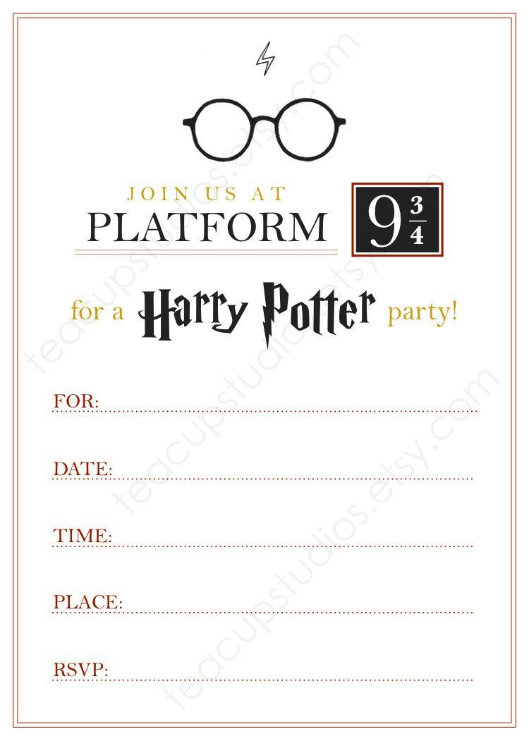 Pindrevio On Free Printable Birthday Invitation In 2019 | Harry - Harry Potter Birthday Invitations Free Printable