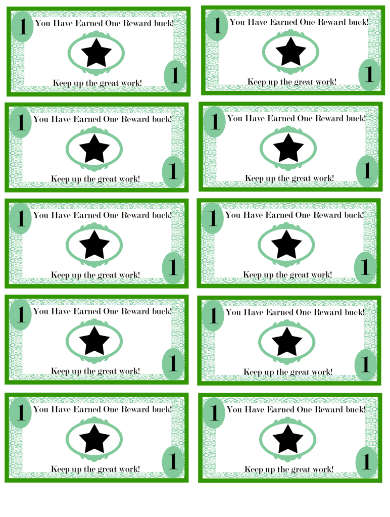 Pinellie Wastin On Teacher's Corner | Kids Rewards, Reward Chart - Free Printable Chore Bucks