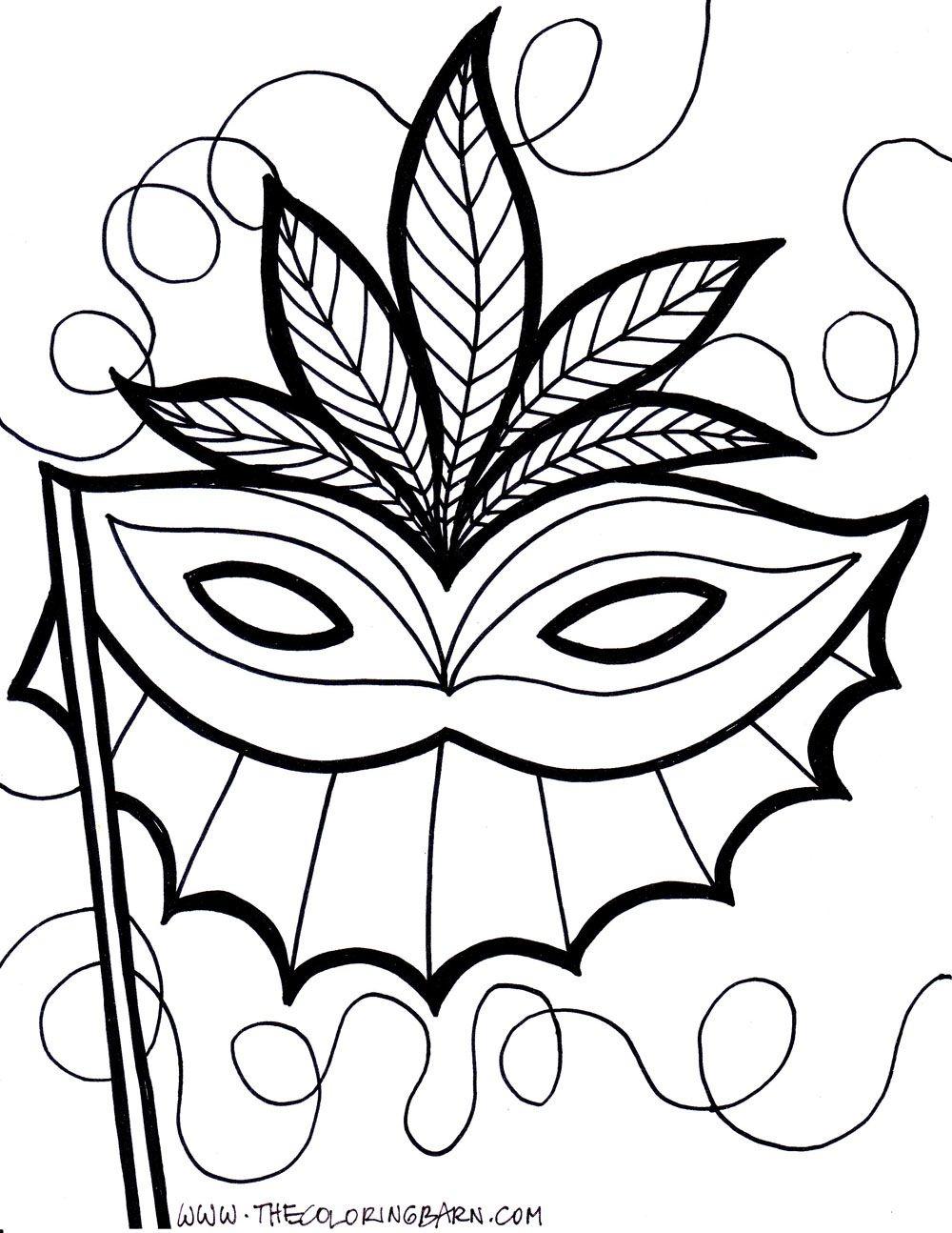 Pinelyssanda Desertsong On Embroidery Inspiration | Coloring - Free Printable Mardi Gras Masks