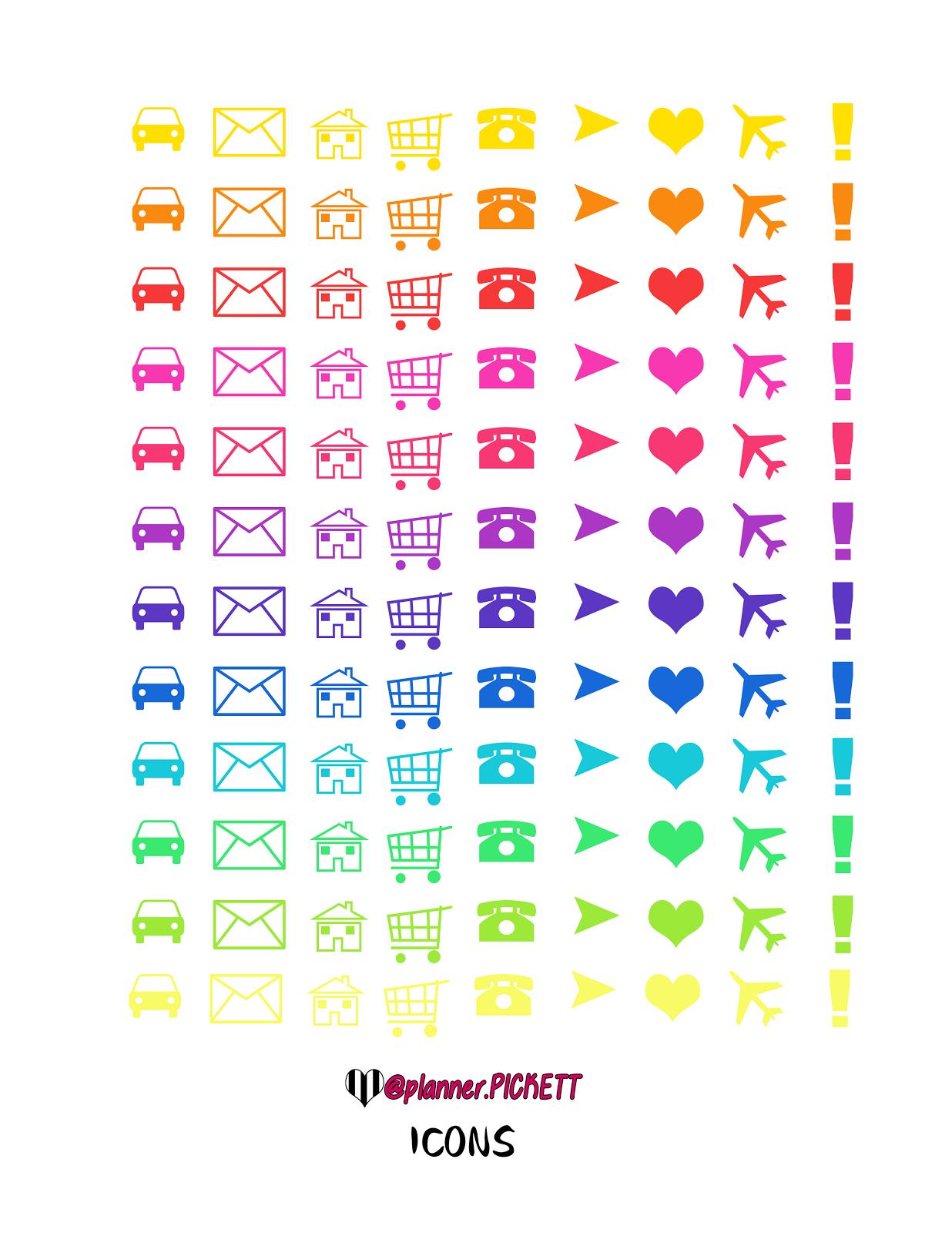 Pinheather Adams On Planning   Printable Planner Stickers - Free Printable Icons