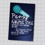 Pinjatnna Tavarez On Invitations & Cards | Karaoke Party   Free Printable Karaoke Party Invitations