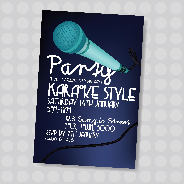 Pinjatnna Tavarez On Invitations & Cards   Karaoke Party - Free Printable Karaoke Party Invitations