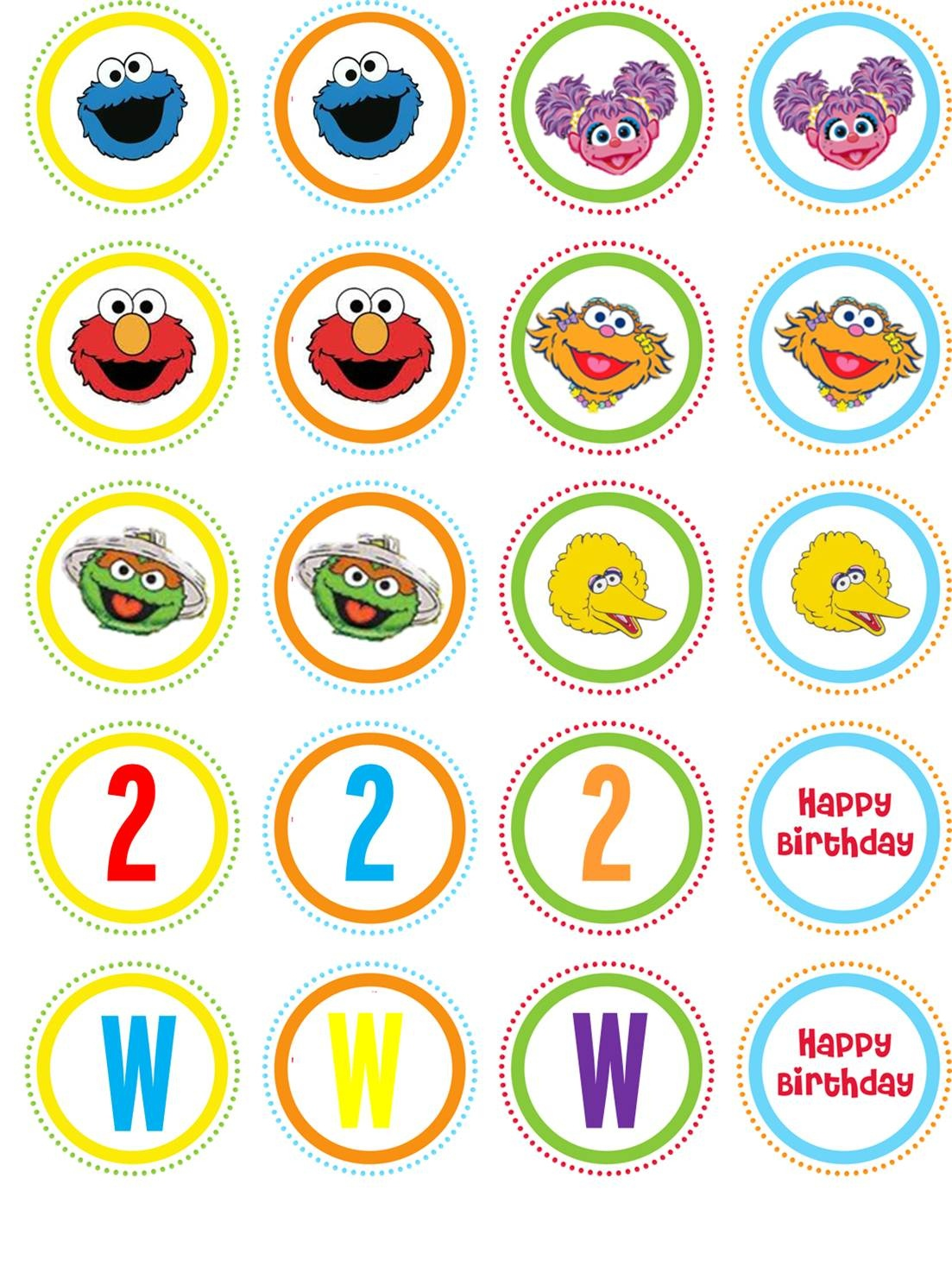 Pinjennifer Mercado On Sesame St | Pinterest - Free Printable Sesame Street Cupcake Toppers