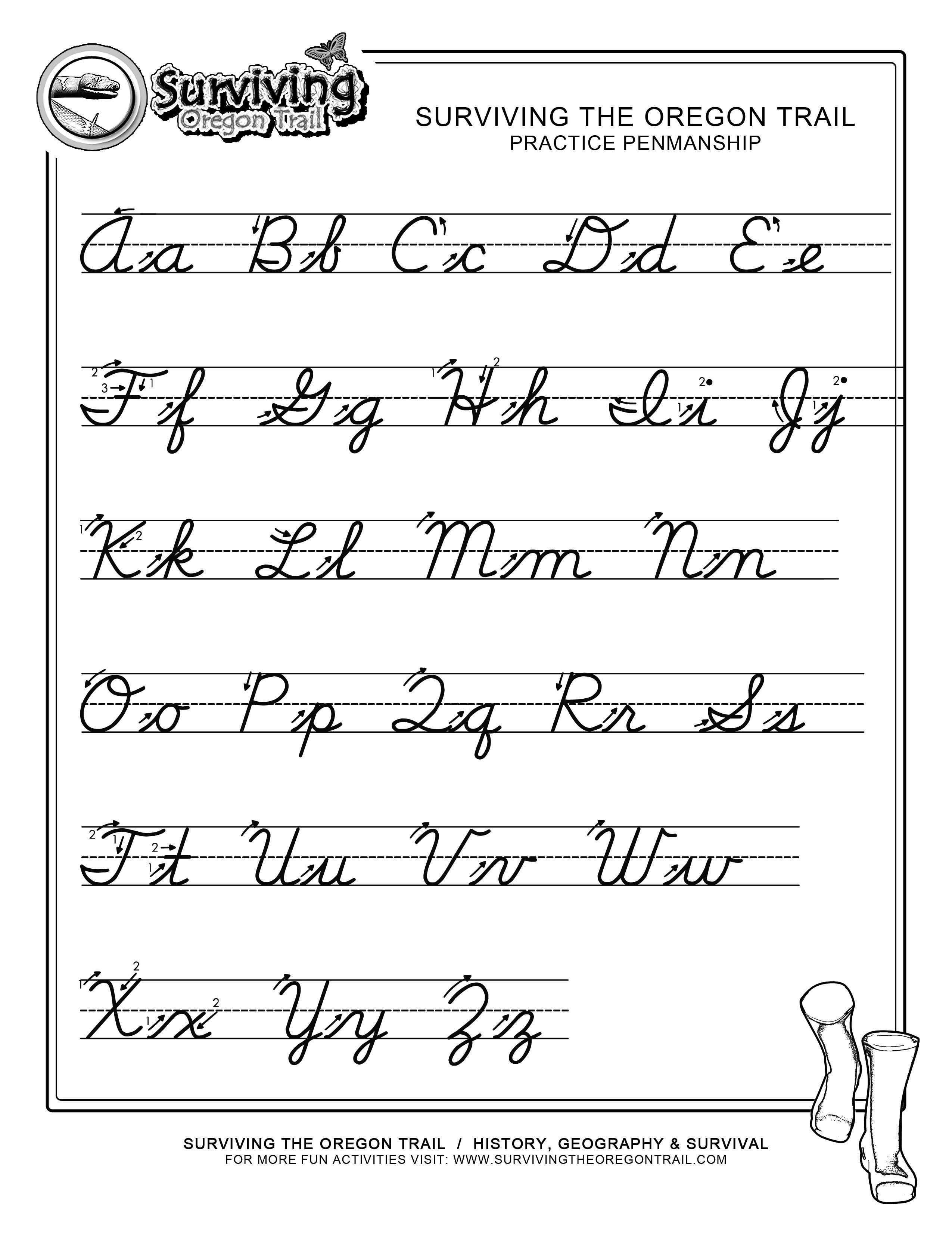 Pinjessica From Honeysuckle & Vine On Homeschool | Cursive - Free Printable Cursive Alphabet