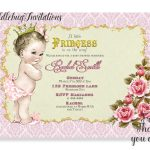 Pink Girl Baby Shower Invitation Princess Baby Girl Invite | Etsy   Free Printable Princess Baby Shower Invitations