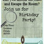 Pinkiki On Γενέθλια | Escape Room, Birthday Party Invitations   Printable Escape Room Free