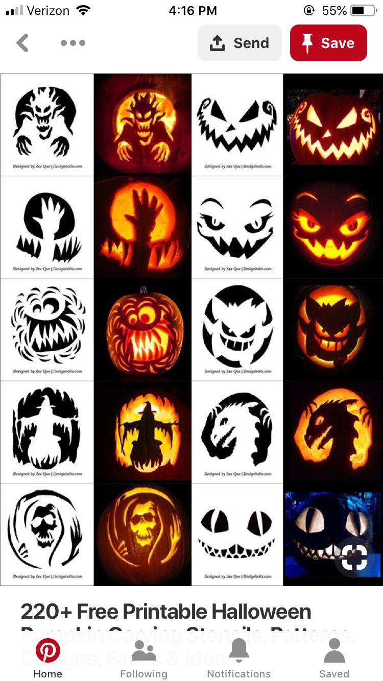 Pinlauren Somma On Halloween Pumpkins In 2019 | Halloween - Scary Pumpkin Stencils Free Printable