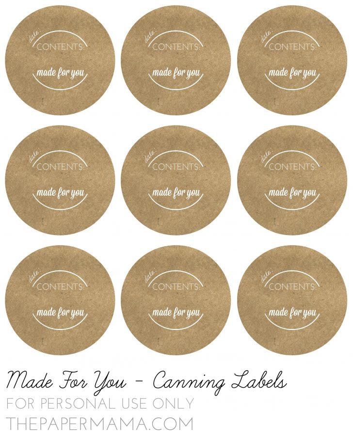 Free Printable Mason Jar Labels Template
