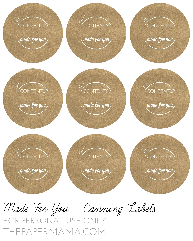 Pinlisa Wirth On Printables   Canning Jar Labels, Jam Jar Labels - Free Printable Mason Jar Labels Template