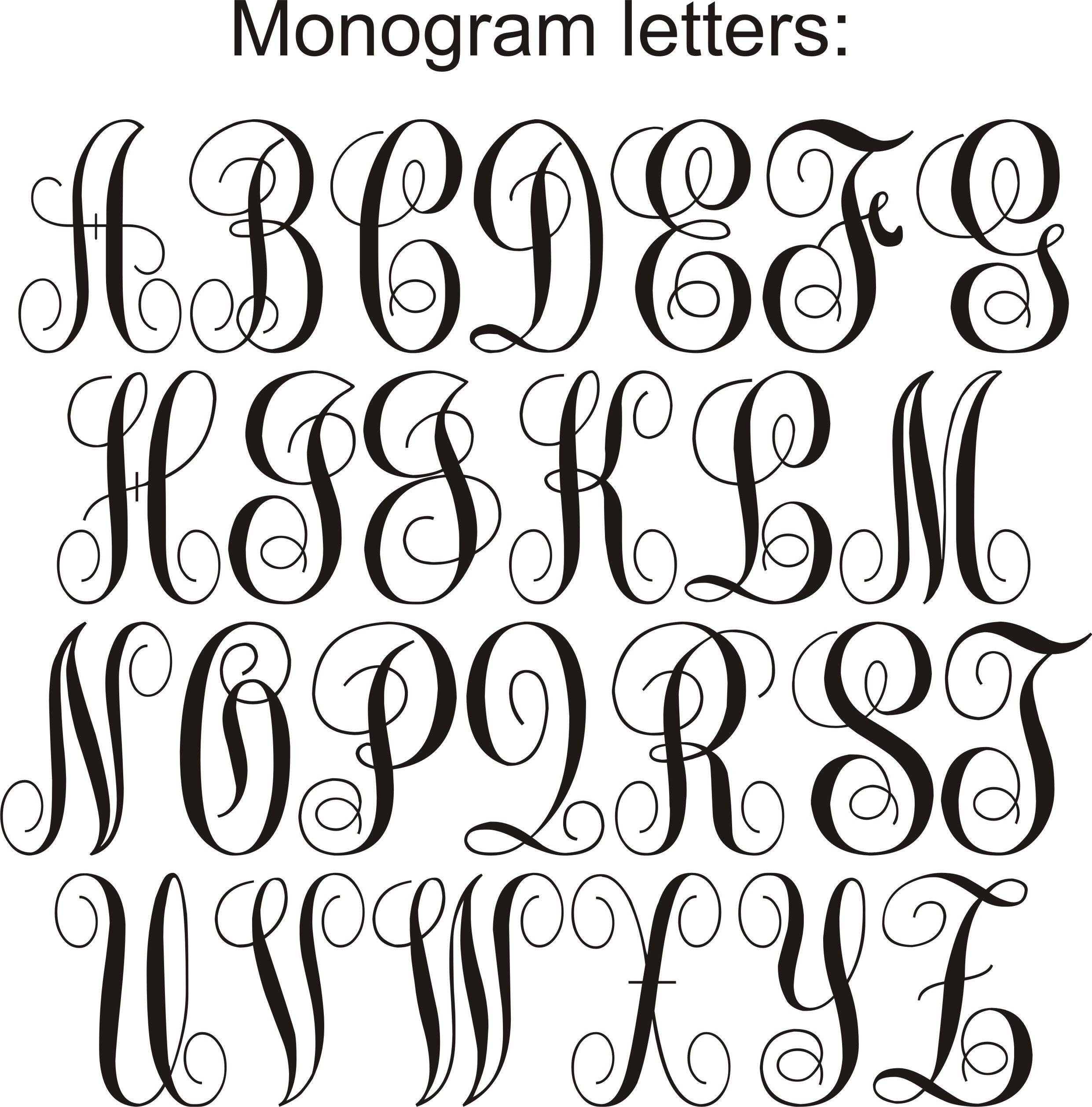 Pinnatalie Ward On Artsy Fartsy   Cursive Fonts Alphabet - Free Printable Monogram Letters