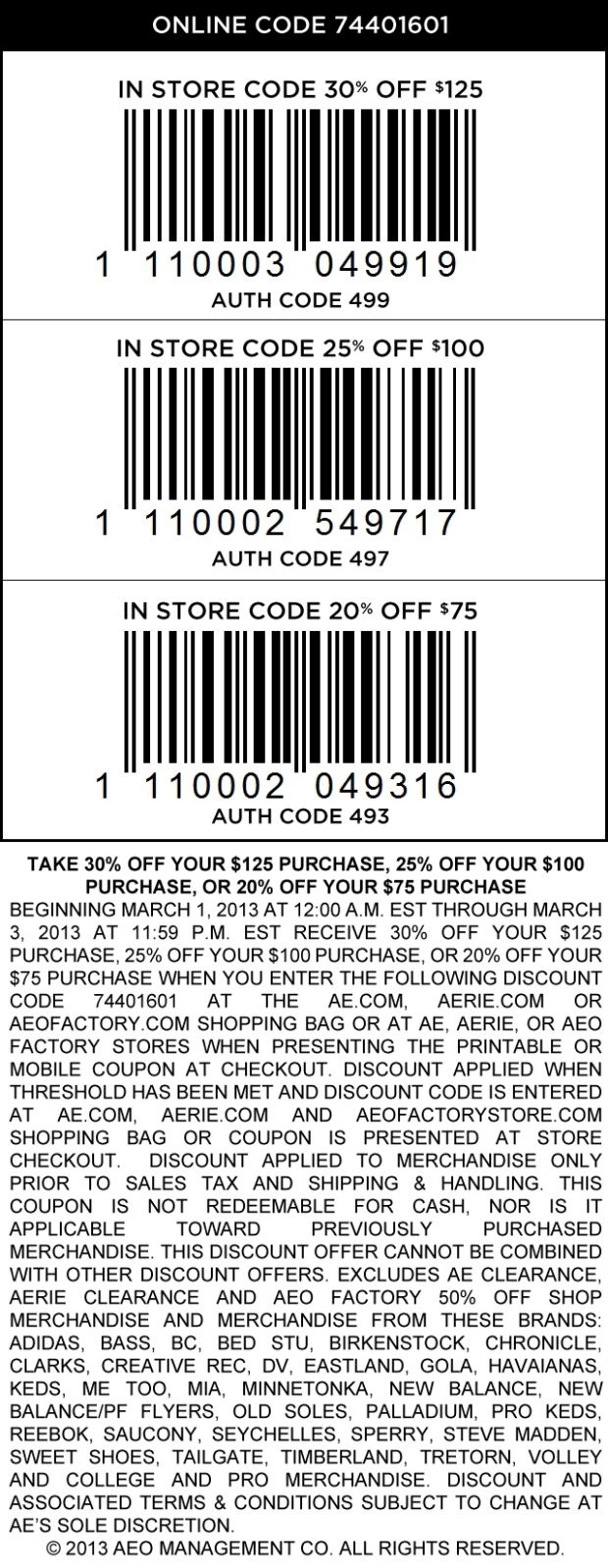 Pinned August 30Th Extra 50 Off At American Eagle Outfitters - Free Printable American Eagle Coupons