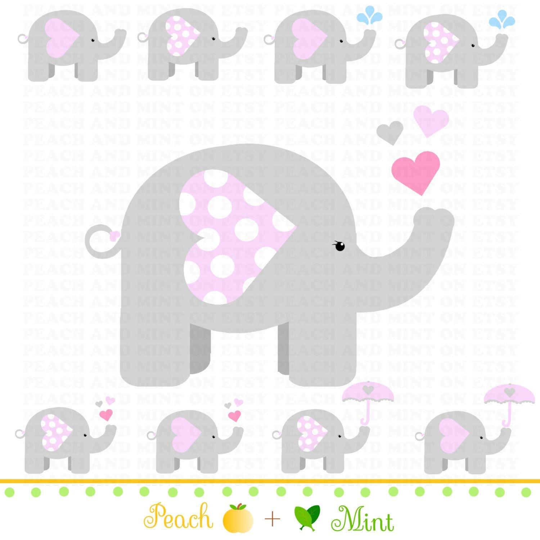 Pinterest - Free Printable Elephant Baby Shower