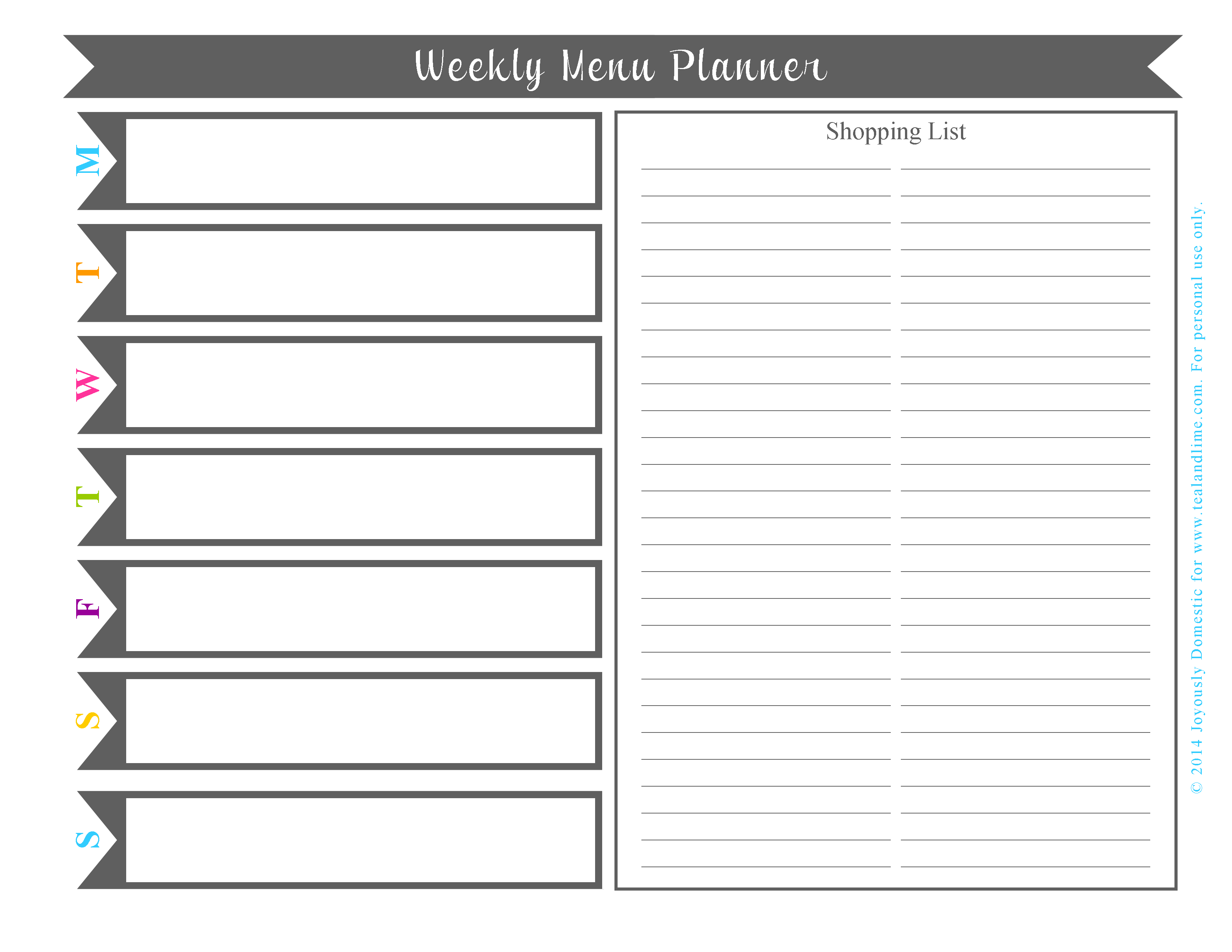 Plan Your Weekly Dinner Menu In Under 30 Minutes (Free Printable) - Weekly Menu Free Printable