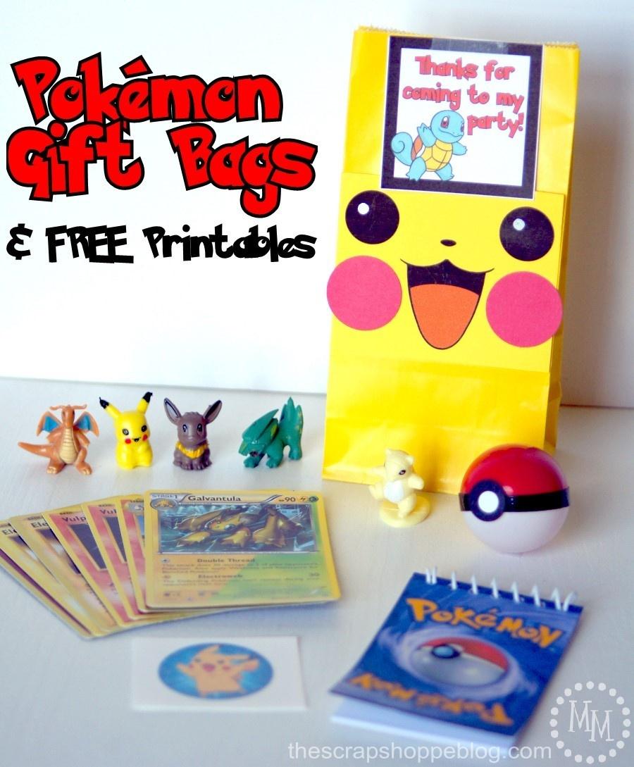Pokémon Gift Bags & Free Printables - The Scrap Shoppe - Free Printable Pokemon Thank You Tags