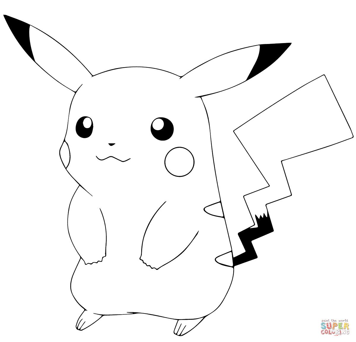 Pokémon Go Pikachu Coloring Page | Free Printable Coloring Pages - Free Printable Coloring Pages Pokemon Black White